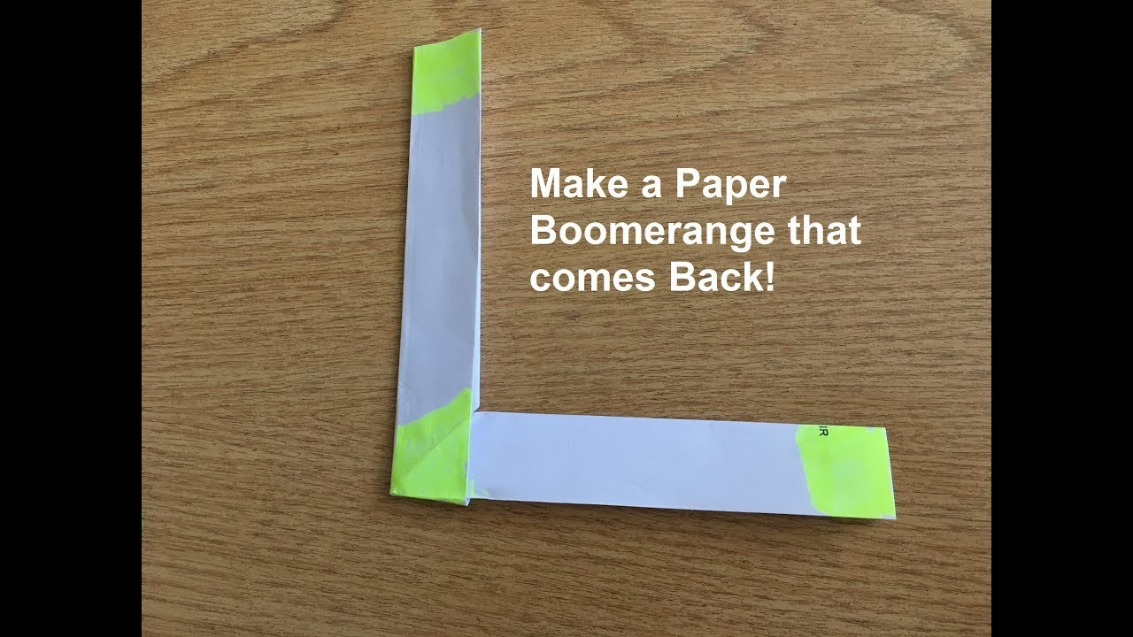 make an easy origami boomerang in 3 minutes that comes back