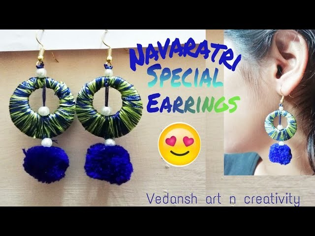 how to make silk thread earrings