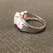 Pink Opal Costume Ring
