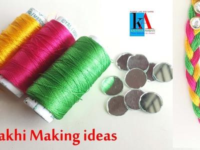 Rakhi Making ideas at home. Easy Rakhi Making Designs#4. handmade Rakhi