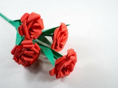 Roses - Paper Rose Stick - Paper Flower - Handmade ????