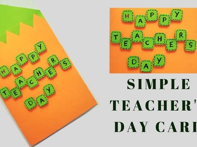 Simple Card for Teacher's Day | Handmade Card 7 | Craft it Right
