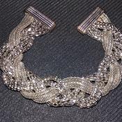 Twisty Silver Magnetic Bracelet