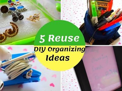 5 DIY Home Organizing Ideas தமிழ்  Cheap & Useful Ideas