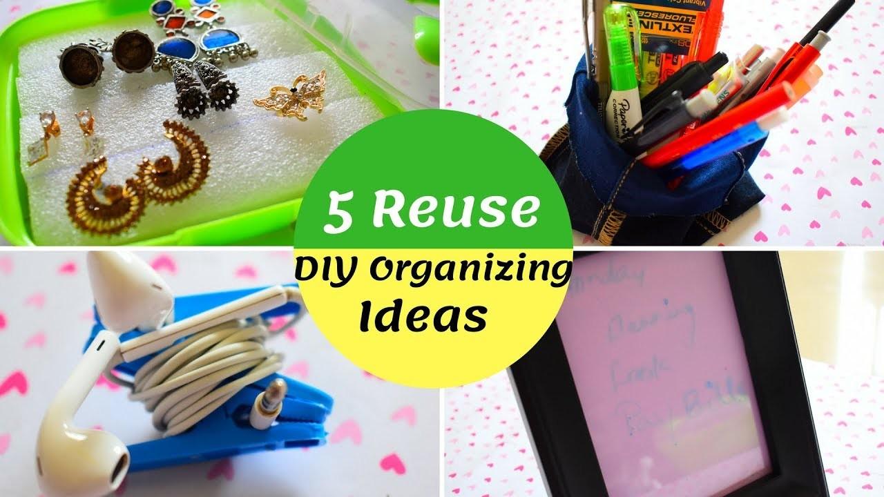 5 DIY Home Organizing Ideas தமிழ்| Cheap & Useful Ideas