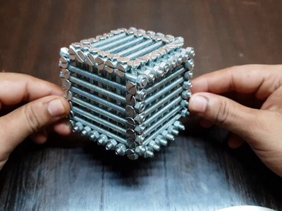 Amazing DIY Nut bolt cube |Make Boom Box