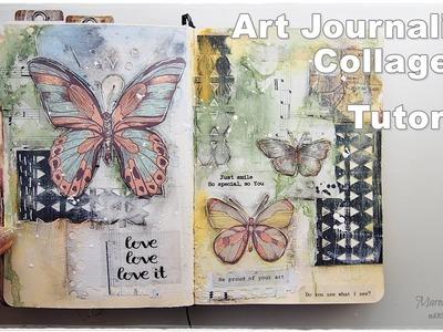 Art Journaling Chit Chat & Collage Tutorial ♡ Maremi's Small Art ♡