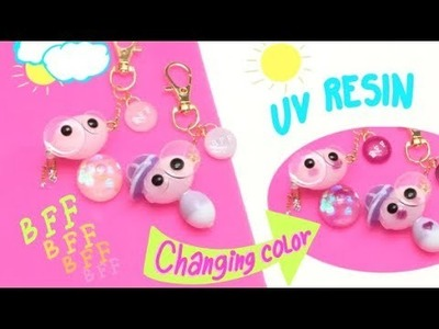 Best Friends Forever resin charms- Tutorial- Changing color with the sun light!