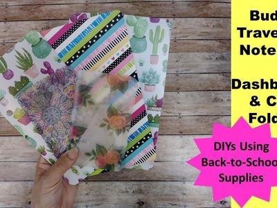 Budget Traveler's Notebook Dashboard With Pockets | School Supply DIY