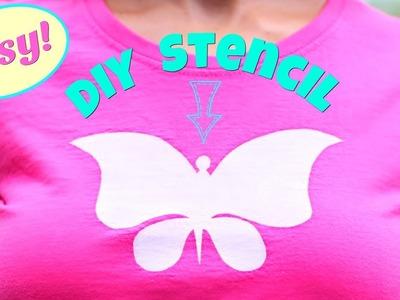 Clever Way To Make Stencils - NO Printer Needed! DIY T-shirt