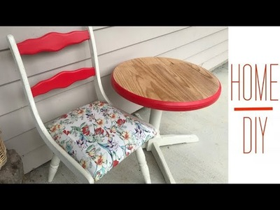 Cute Outdoor Chair and Table Painting DIY Make Over ❤️