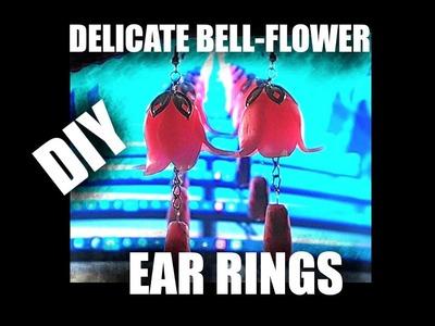 Delicate bellflower ear rings - DIY polymer clay tutorial 423