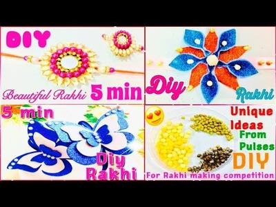 DIY 5 different rakhi making ideas for competition    Best Rakhi making ideas    Waste Rakhi Ideas