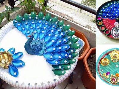 DIY || aarthi thaali decoration || pooja thaali decoration