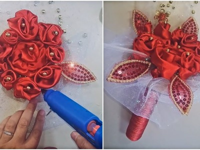 DIY Bridal Bouquet | Easy Ribbon Roses | Wedding DIY Flowers