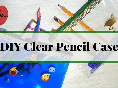 DIY Clear Pencil Case | Transparent Pouch with Zipper | Bach to School Ideas by Fluffy Hedgehog