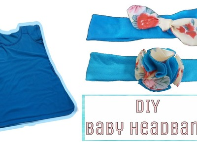DIY: Cute and Easy Headbands for Baby from Old Shirt!