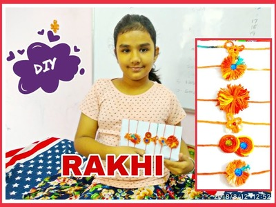 DIY- Easy and Quick Rakhi designs- सिर्फ मौली से बनाएं शानदार राखियां- even kids can make them