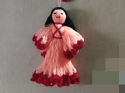 DIY easy woolen doll