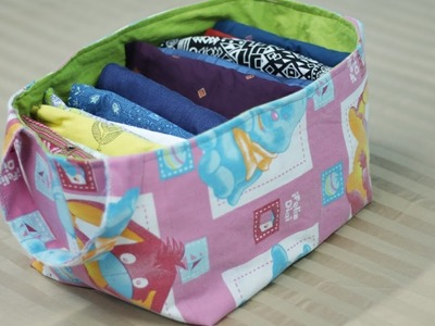 DIY Fabric Basket from Old Clothes - No Cost Wardrobe Organization Idea
