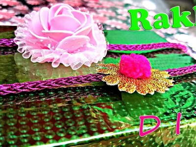 DIY| How To Make Easy Home Made Beautiful Rakhi in 2 minutes|