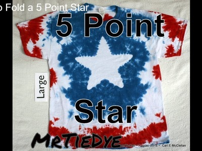 DIY How to Tie Dye a 5 Pointed Star