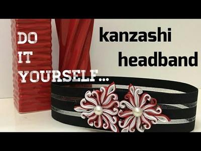 Diy kanzashi Headband
