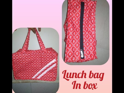 DIY Lunch bag in box bag in a easy way