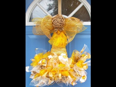 #diy (New Ideas) Dollar Tree Witch Hat Form Into My 'Golden Harvest Angel' Kitchen Decor For 2018