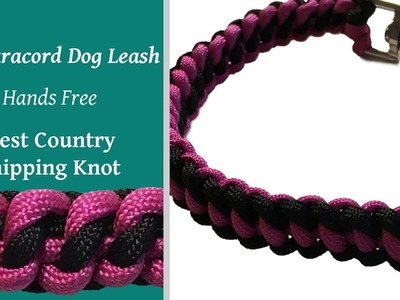 DIY Paracord Dog Tab Leash   West Country Whipping Knot
