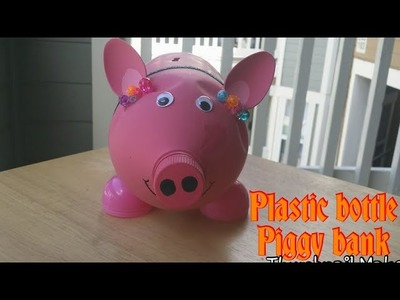 DIY Plastic bottle piggy bank.