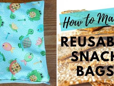 DIY Reusable Snack Bag or Wet Bag | Easy Zipper Bag