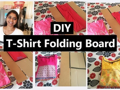 DIY Shirt Floder| How To make T shirt Floding Board With Card board | Shirt Folding Board