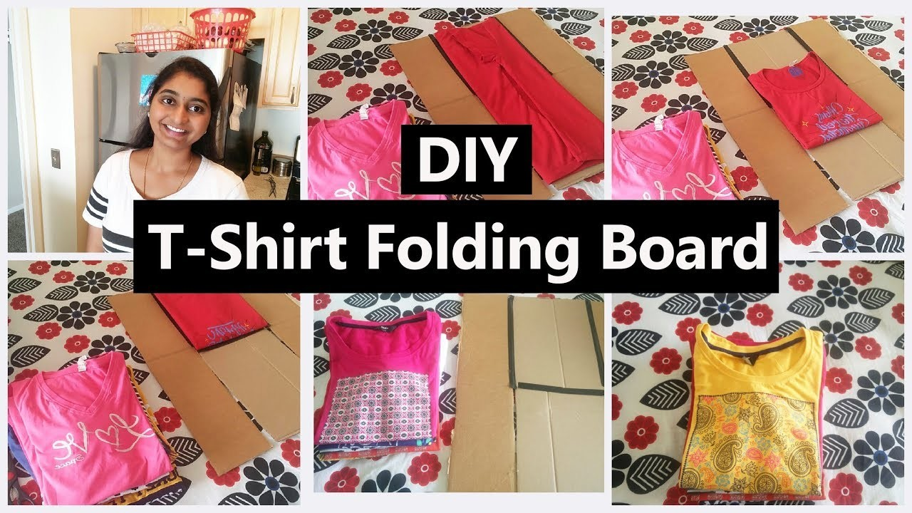 DIY Shirt Floder  How To make T shirt Floding Board With Card board   Shirt Folding Board