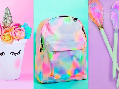 DIY Stylish & Weird SCHOOL SUPPLIES For Back To School! UNICORN