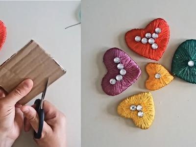 DIY Yarn Heart (Very Easy)