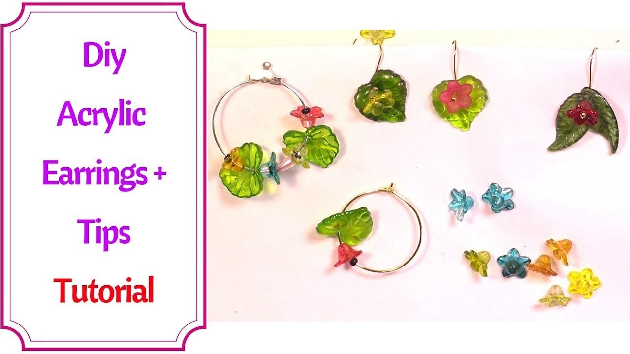 how to make simple earrings with beads