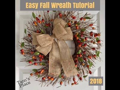 Easy Fall Wreath Tutorial 2018