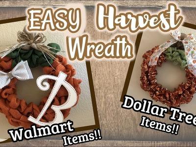 EASY Harvest DIY Wreath | Dollar Tree DIY | Walmart DIY