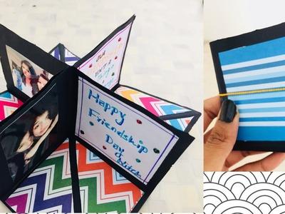 Friendship Day Gift! DIY square Circular Pop greetings Card!!