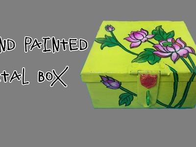 Hand Painted Metal Box |Easy DIY|Creative Pinky