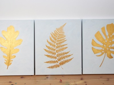 How to Create a DIY Gold Leaf Triptych