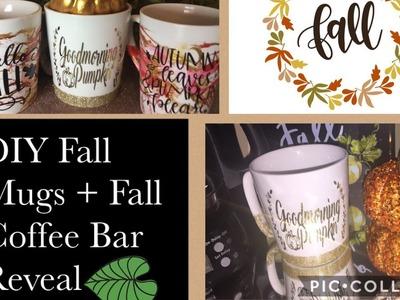 ????How To DIY Beautiful Fall Mugs + Fall Coffee Bar Reveal and Surprise! ????