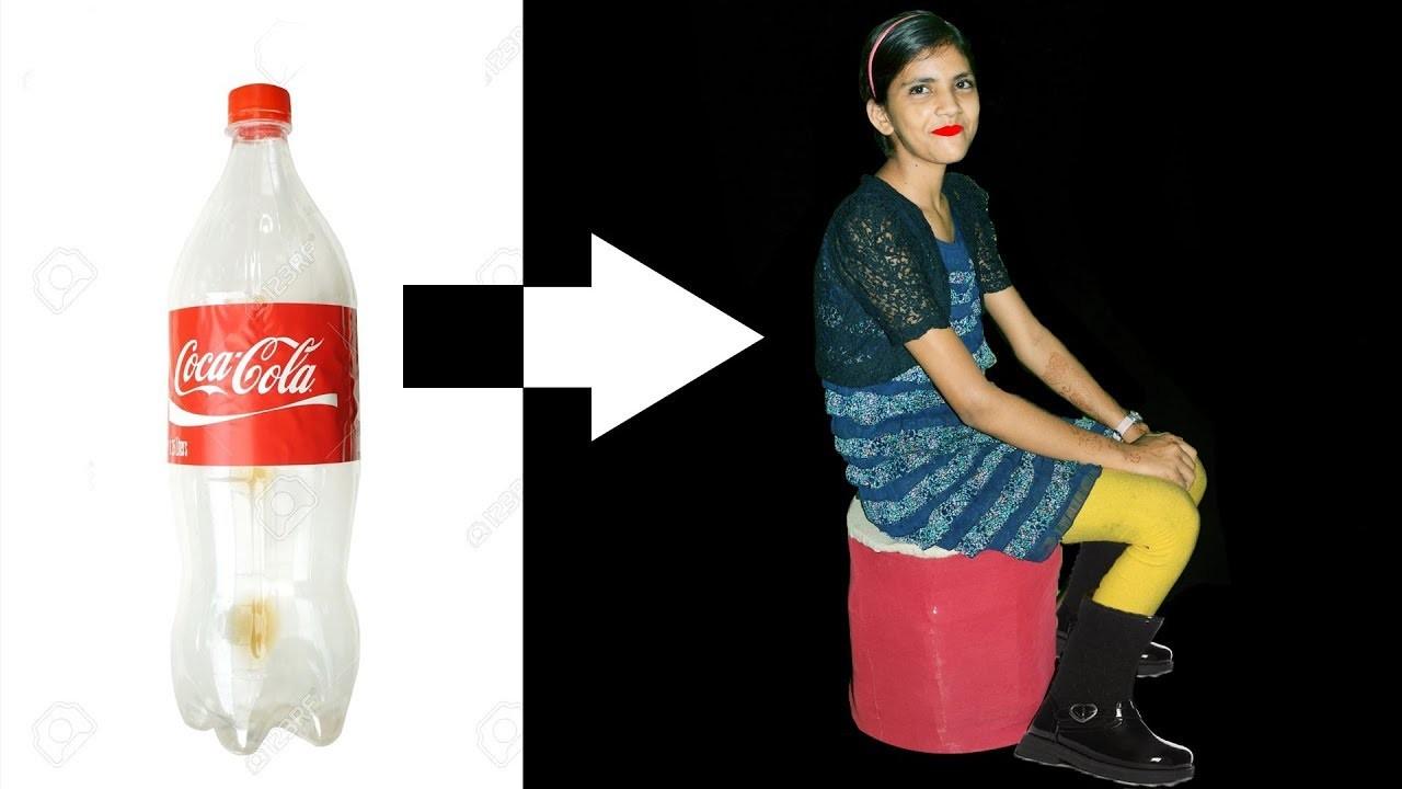 How to make plastic bottle DIY chair | घर पर प्लास्टिक बोतल की कुर्सी कैसे बनाये