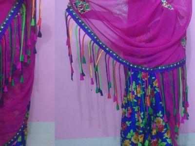 How to make saree pallu at home| easy designer saree pallu tutorial step by step