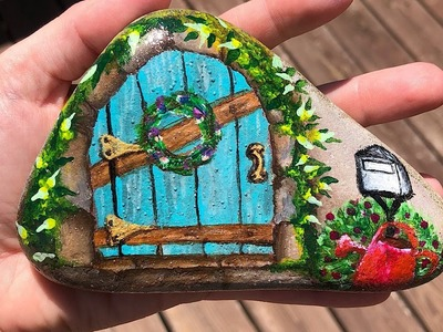 How to paint a doorway rock painting tutorial