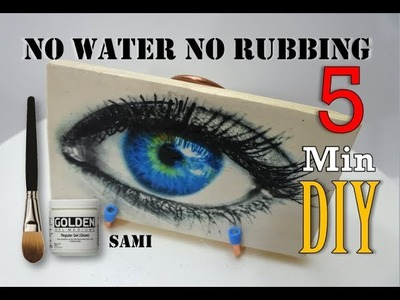How to Transfer photo onto Wood 5 Min DIY no Rubbing no water