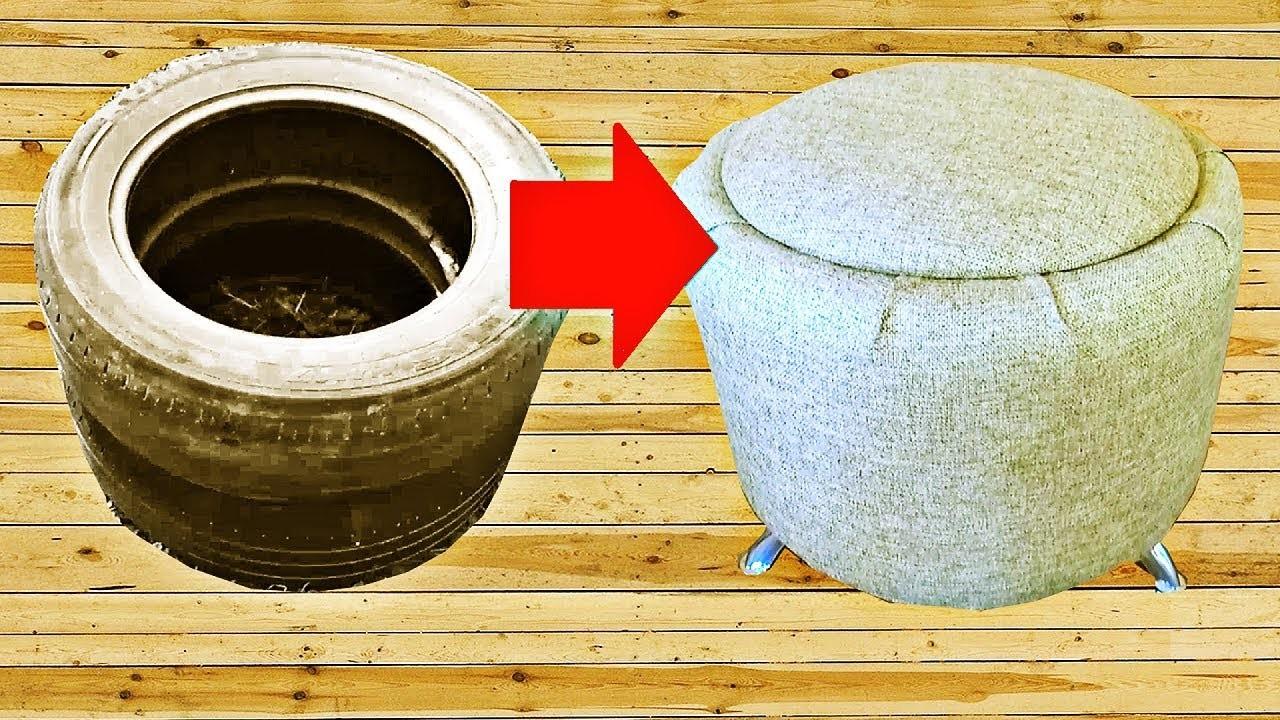 Interesting Way to Use Tires Ottoman DIY