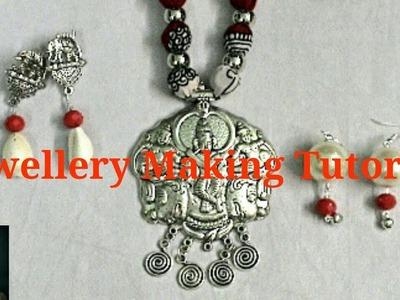 Jewellery Making Tutorial ( Earring Making ) Part - 12. Debjani Creations Tutorial