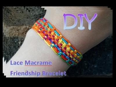 Macrame Lace Friendship Bracelet Tutorial